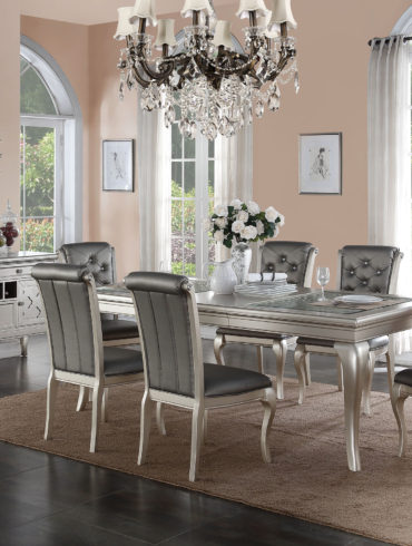 RECTANGLE DINNING SET WITH 6 CHAIRS