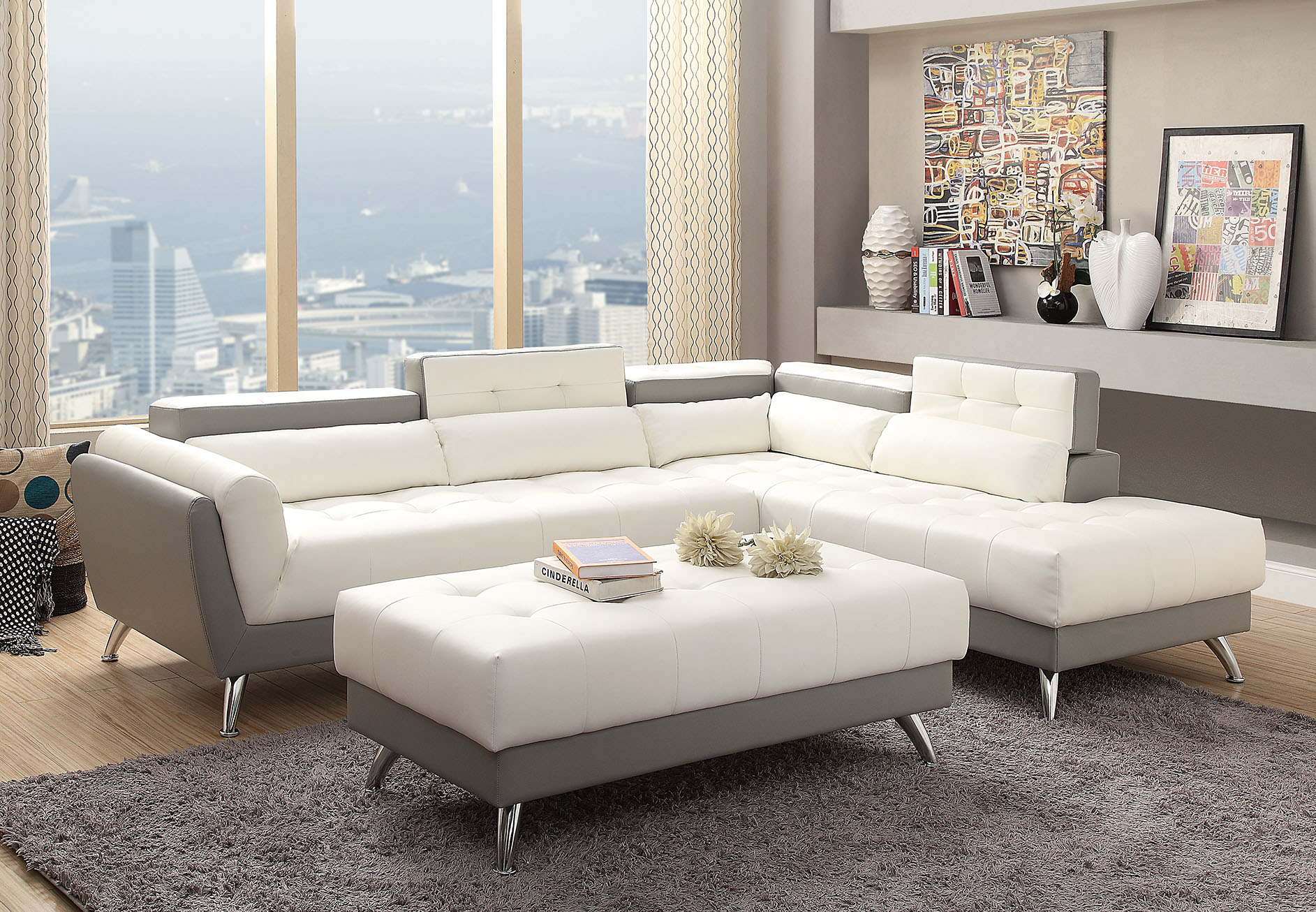 Contemporary Sectional Sofa Miami Gallery Furniture