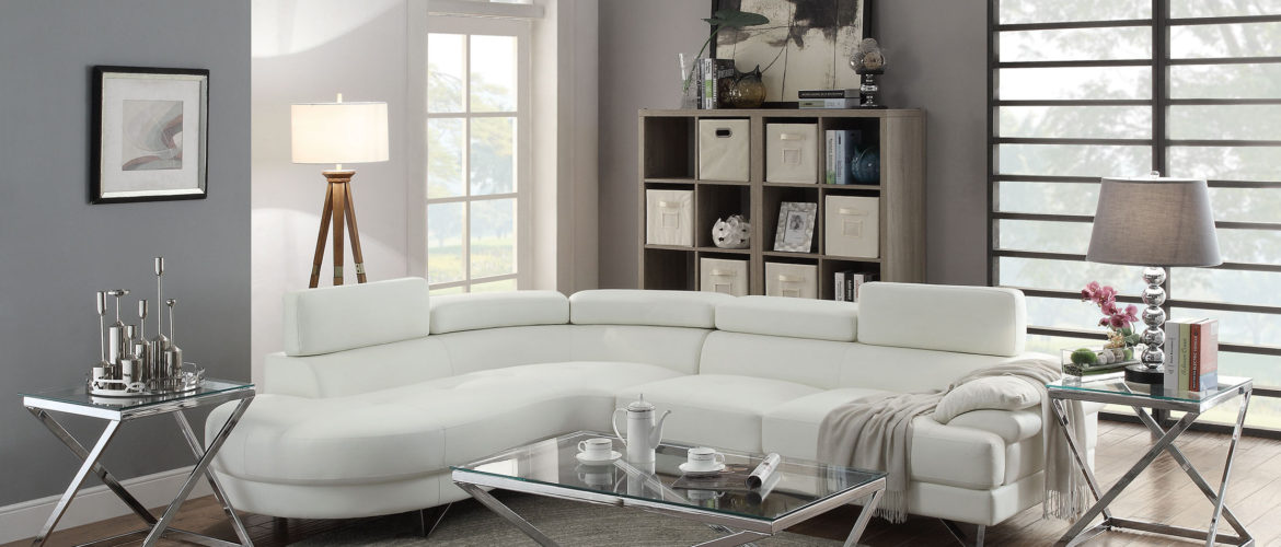 otto furniture decor miami store white sectional sofa