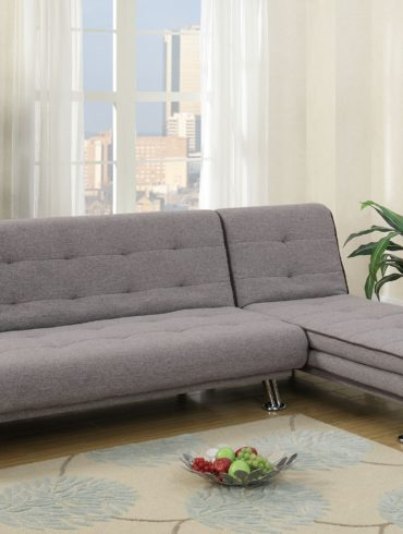 Grey Sectional Futon