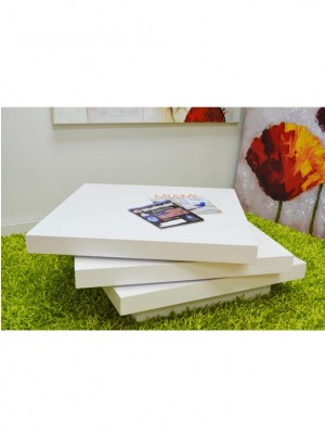 white lacker coffee table