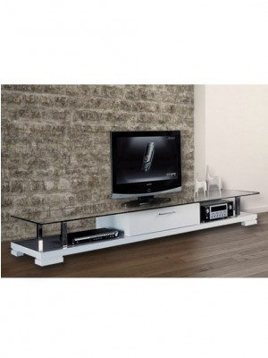 WH TV STAND WITH GLASS TOP