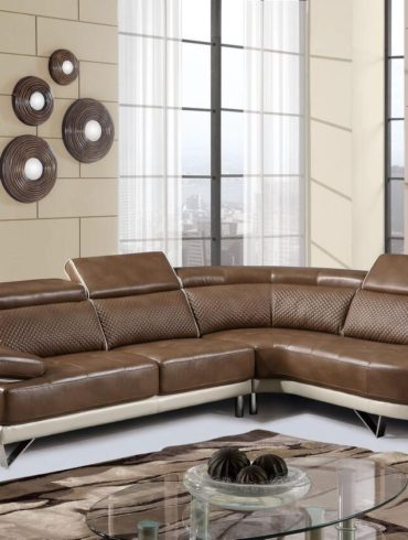 Laft sofa Sectional walnut/pearl