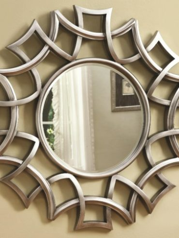 Starburst Accent Mirror in Silver Finish