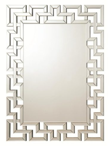 Frameless Greek Key Mirror