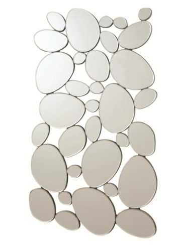 Modern Pebble Mirror