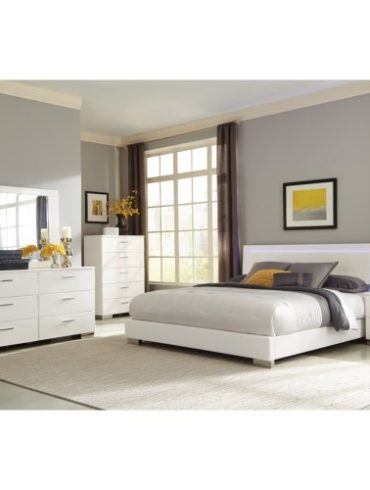 5-PCS QUEEN LED BEDROOM SET