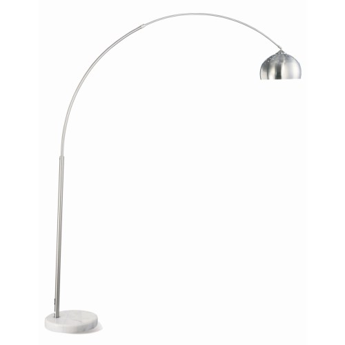 CONTEMPORARY ARCHED LAMP IN CHROME FINISH AND MARBLE BASE