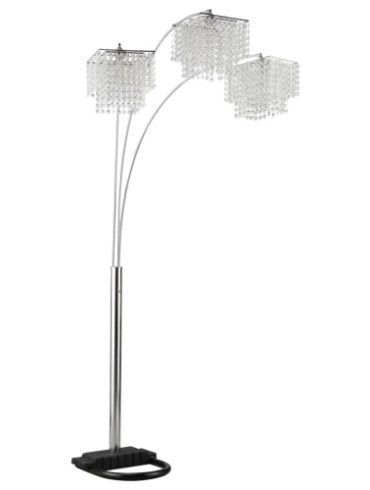 POLY CRYSTAL LAMP WITH CHROME BASE