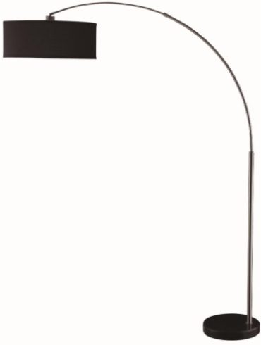 CONTEMPORARY STYLE FLOOR LAMP WITH CHROME ARCHED SUPPORT