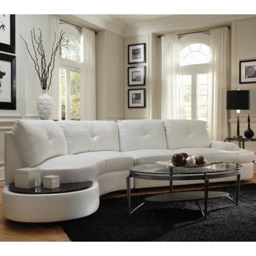 Talia Contemporary Sectional Conversation Sofa With Built In Table