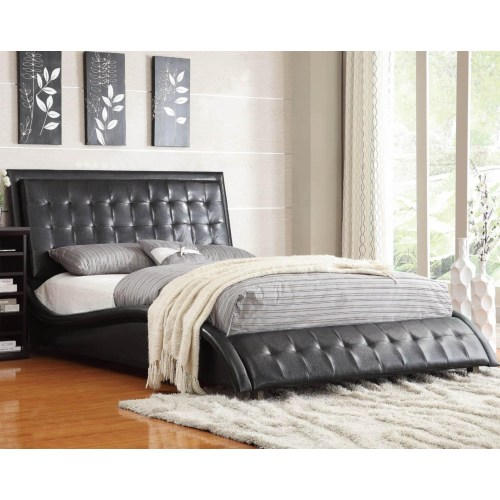 BLACK SUPER MODERN QUEEN BED