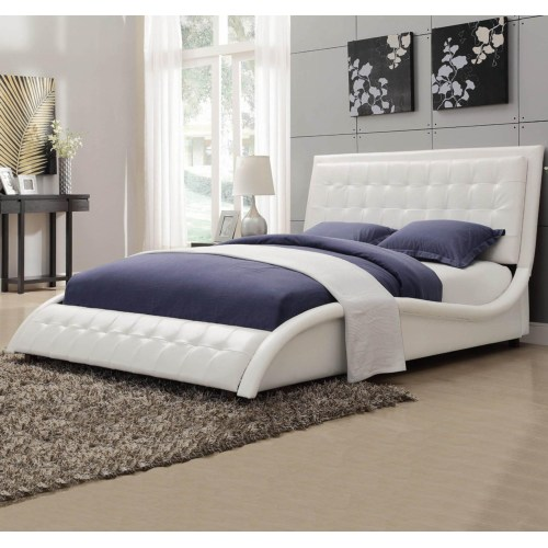 WHITE SUPER MODERN QUEEN BED
