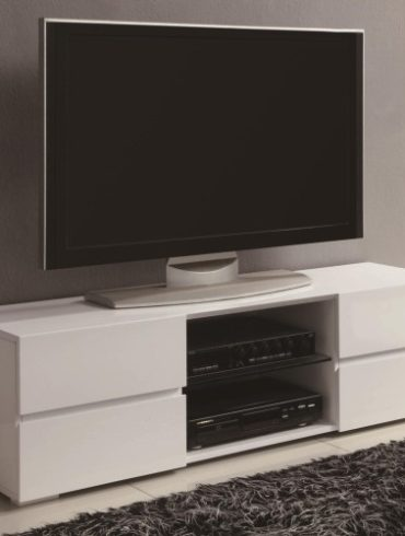 TV Stands High Gloss White
