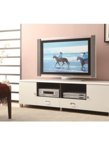GLOSSY WHITE FINISH TV STAND