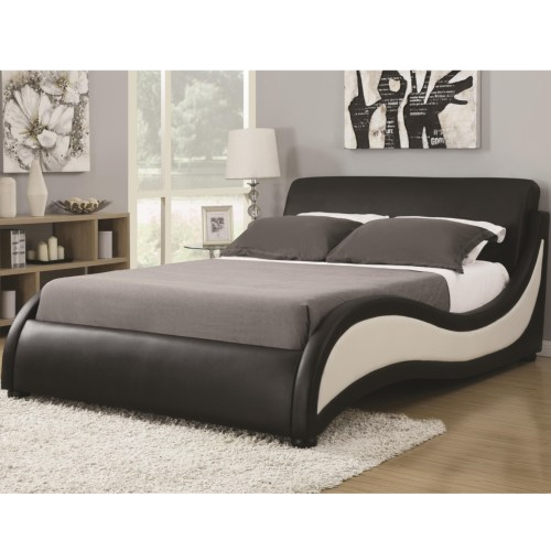 BLACK AND WHITE MODERN QUEEN BED