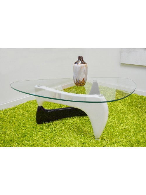 Triangle black and white coffee table