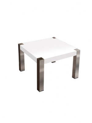 white end table stainless steel legs