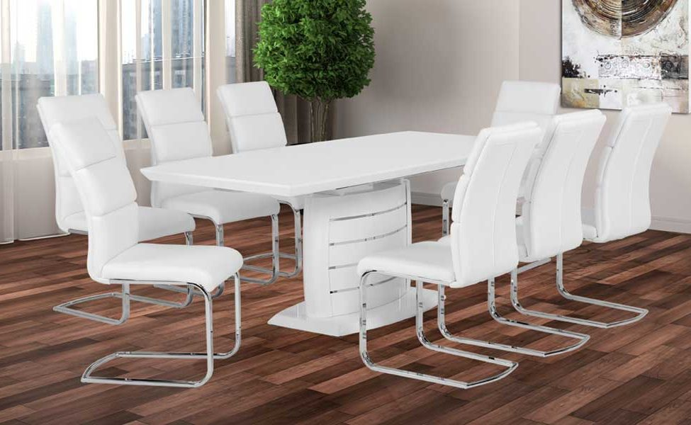 WHITE DINNING TABLE