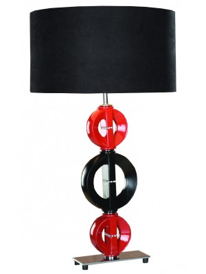 Red and black table lamp miami gallery furniture red and black table lamp aloadofball Gallery