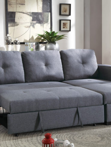 Convertible Sectional Blue Grey