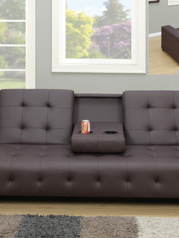 Adjustable Sofa with Cup Holders and Storage Arm Rest