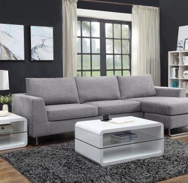 Gray Fabric Sectional