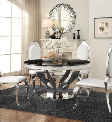 Luxurious and modern 5 pieces dinning table