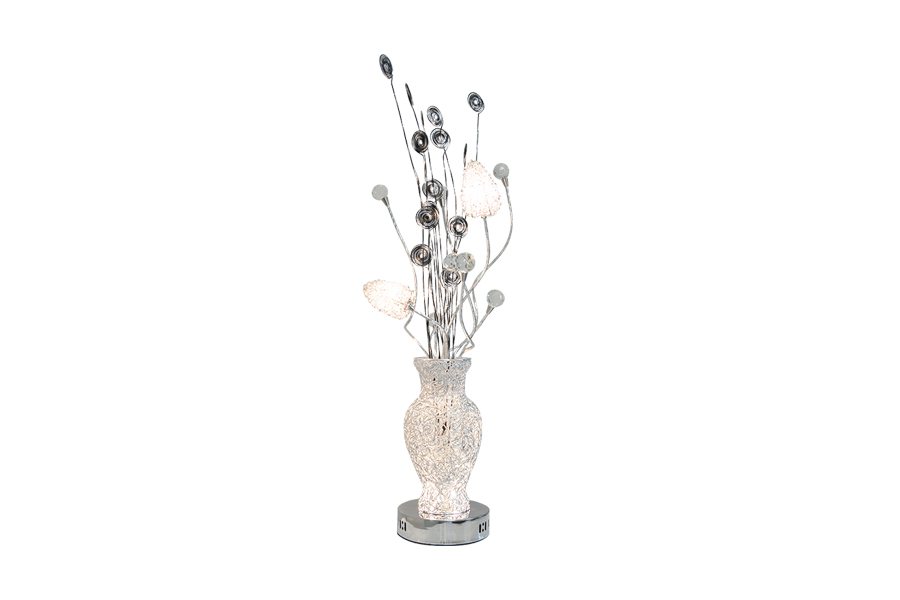 Modern Table Lamp With Metal Flowers Miami Gallery Furniture