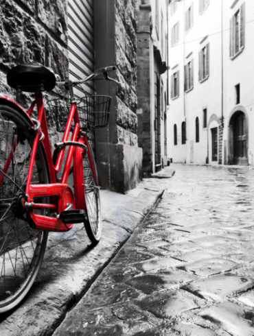 Red Bike on canvas