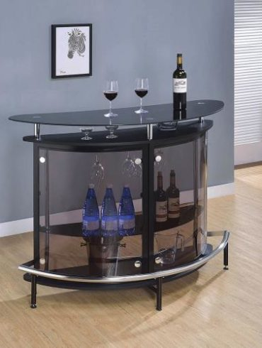 BLACK BAR GLASS TOP
