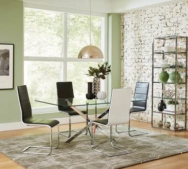 RECTANGLE GLASS DINNING TABLE