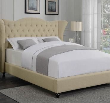 FABRIC WING QUEEN BED