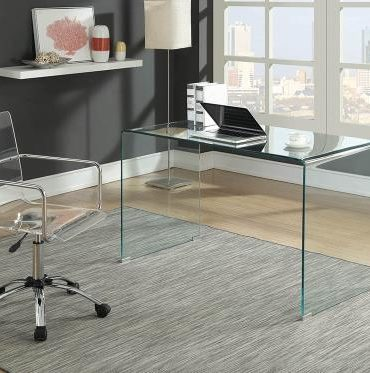 GLASS MODERN WRITING DESK