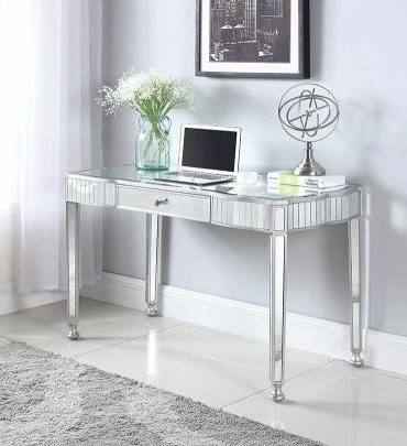 ANTIQUE SILVER FINISH WRITING DESK
