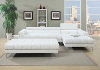 WHITE OR BLACK SECTIONAL W/OUT OTTOMAN