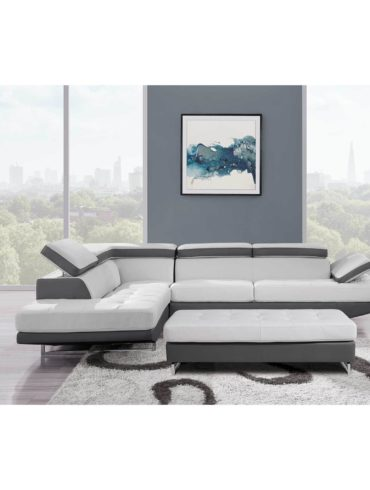 Beich and Gray Modern sectional