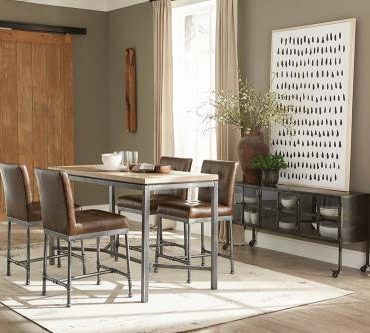 Rustic 5 pcs Dinning Table