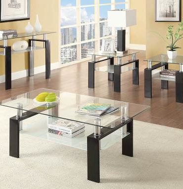 rectangle glass top coffee table