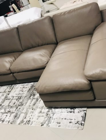 white or taupe sectional