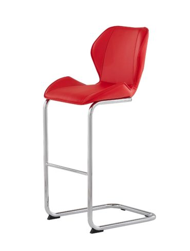 barstool white, red, gray and black
