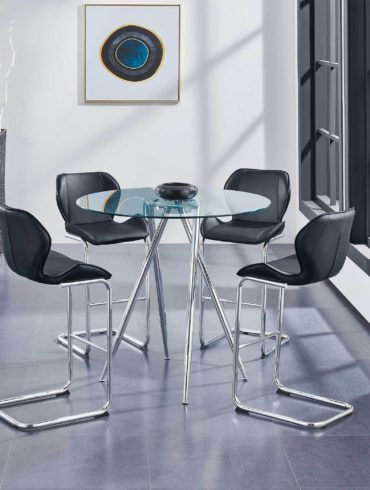 High Round Dinning Table + High chairs