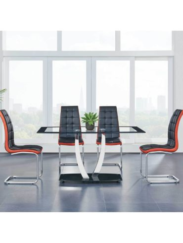Rectangle table with 4 chairs