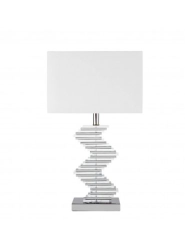 silver and white lamp